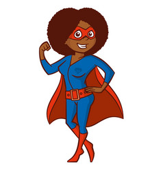 super hero woman cartoon character vector image vector image