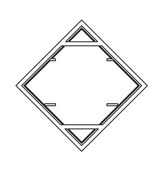 Triangular frame in blank vector