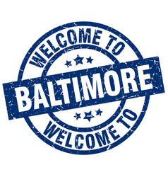 welcome to baltimore blue stamp vector image vector image