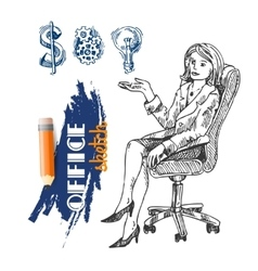 Woman in a business suit vector image