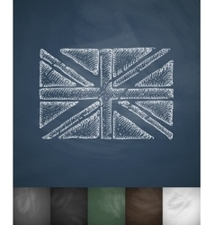 flag of England icon Hand drawn vector image