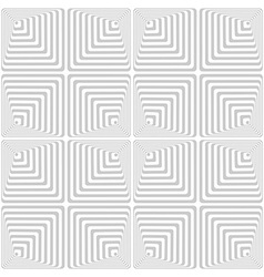 Light-gray and white abstract geometric background vector image