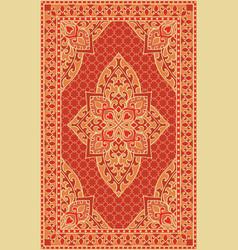 orange template for carpet vector image