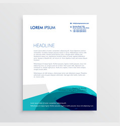 Letterhead design with abstract blue shapes vector