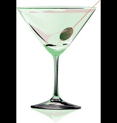 Cocktail martini vector