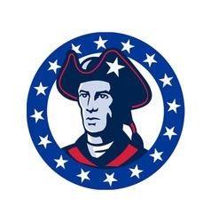 american patriot minuteman stars retro vector image