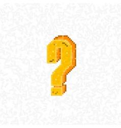 Retro question mark symbol style 8 bit vector