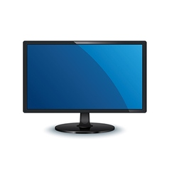 Computer monitor wide screen isolated vector