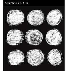 Hand drawn chalk circle frames vector