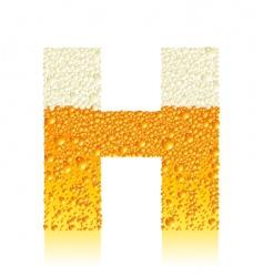 alphabet beer h vector image vector image