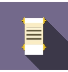 Ancient scroll icon flat style vector