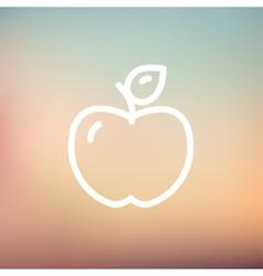 Apple thin line icon vector image