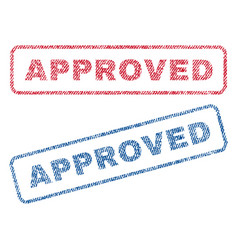 Approved textile stamps vector