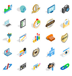 Call icons set isometric style vector