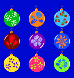 Christmas colorfull toys set vector