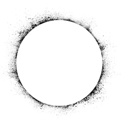 Circle ink blots background vector image