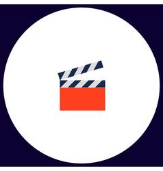 Clap board computer symbol vector