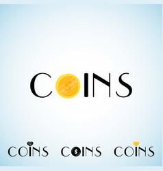 Coins logo template vector