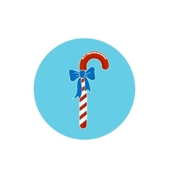 Colorful icon christmas candy with bow vector