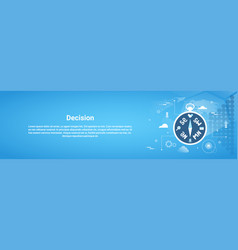 Decision making web horizontal banner with copy vector