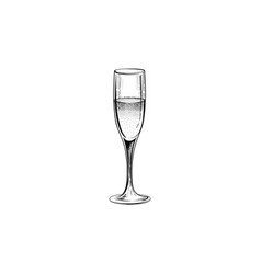 Drink champagne sign christmas party icon with vector