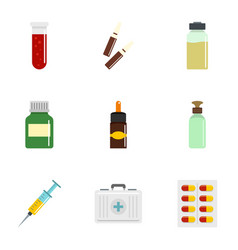 Drug forms icon set flat style vector