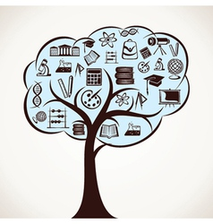 educational icon tree stock vector image