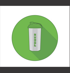 fittness lifestyle icon with sport bottle symbol vector image vector image