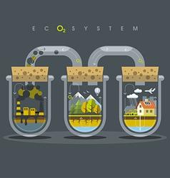 Flat Ecosystem Oxygen vector image vector image