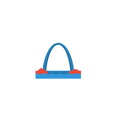 Flat icon gateway arch element vector