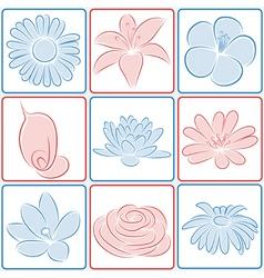 flower design elements vector image vector image
