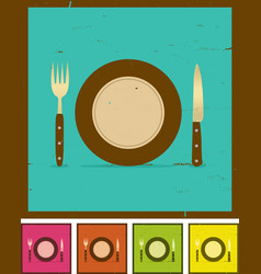 Grunge restaurant banner set vector