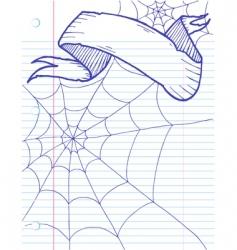 halloween doodle banner vector image vector image