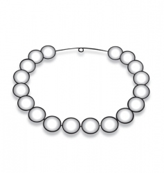 Necklace pearl vector