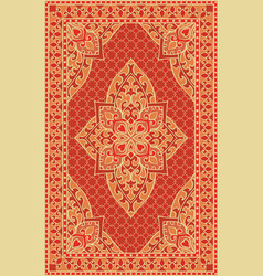 orange template for carpet vector image vector image