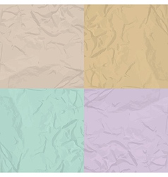 paper texture four color set vector image
