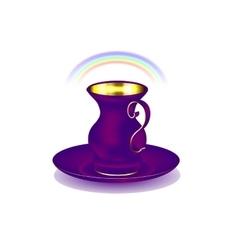 purple golden cup vector image vector image