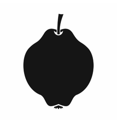Quince fruit icon simple style vector