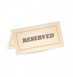 reserved icon vector image vector image