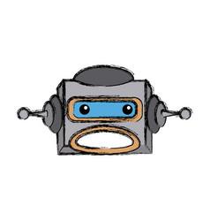 Robot head electronic antenna machine vector