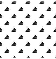 Sailing yacht pattern simple style vector