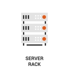 Server rack icon vector