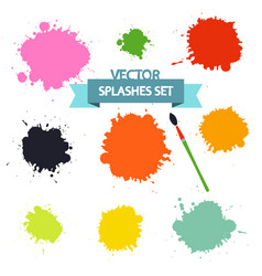 splashes set isolated on white background flat vector image vector image