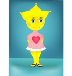 star girl vector image vector image