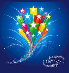 stars celebration background vector image