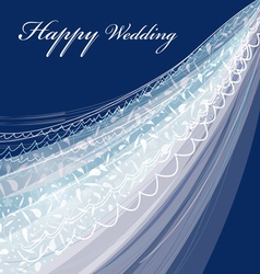 Wedding veil vector