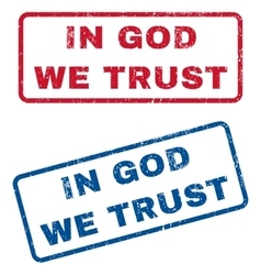 In god we trust rubber stamps vector