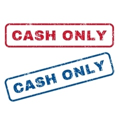 Cash only rubber stamps vector