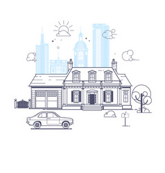 traditional and modern house vector image