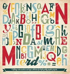 Various retro vintage typography collection vector